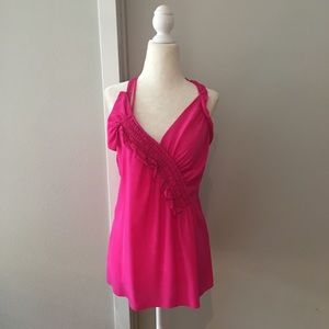 👚 Nanette Lepore silk asymmetrical blouse